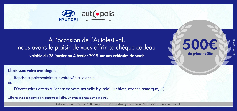 chèque cadeau Hyundai
