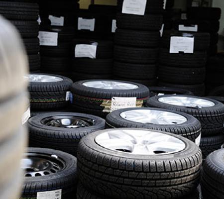 Stockage des pneus